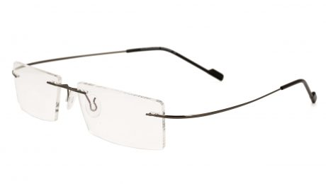 Royal Son Rimless Rectangular Unisex Spectacle Frame (RS02090ER|50|Transparent)