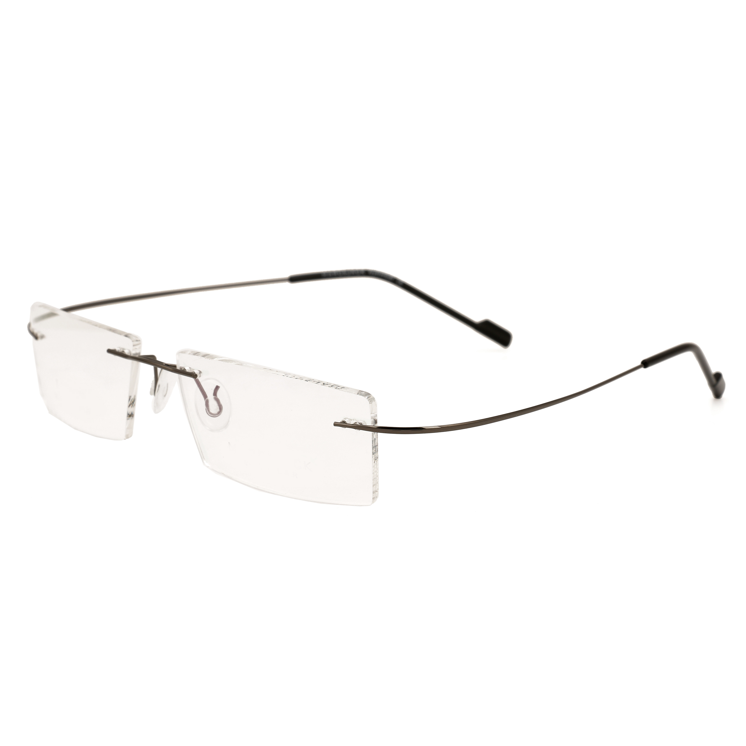 7fce356c6195 Royal Son Rimless Rectangular Unisex Spectacle Frame  (RS02090ER|50|Transparent)